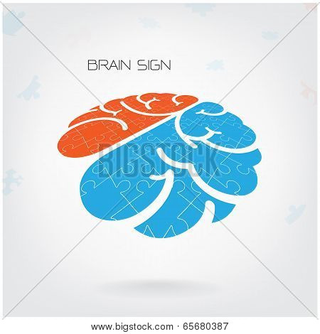 Creative Jigsaw Brain Sign