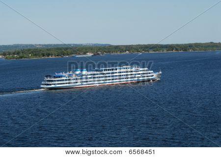 By A Steamship Across Volga