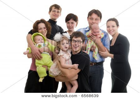 Picture Of Big Happy Family