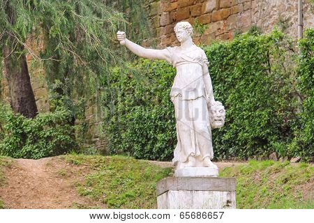 Sculpture In The Boboli Gardens. Florence, Italy