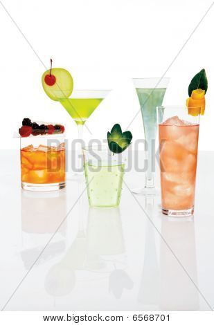 Different Mixed Drinks