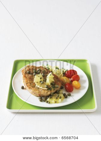 Pork Piccata With Sauteed Grape Tomatoes