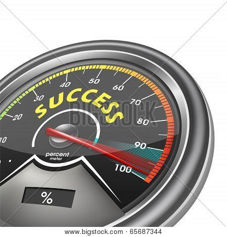 Success Conceptual Meter Hundred Percent