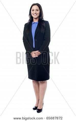 Confident Businesswoman Standing
