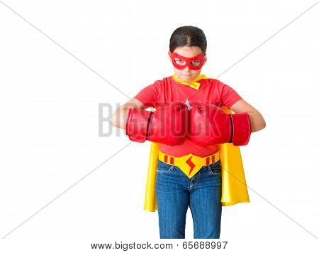 Child Acting Like A Super Hero
