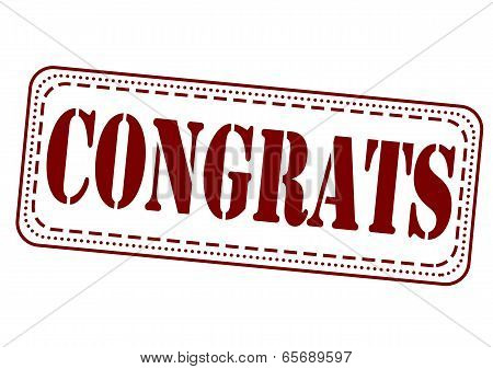 Congrats Stamp