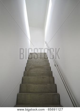 concrete indoor staircase