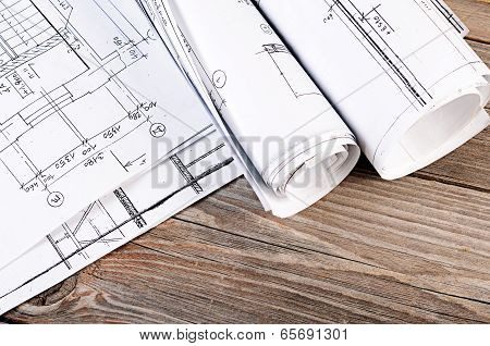 Projects Of Houses On The Background