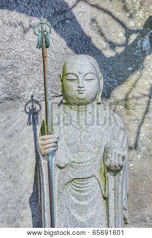 Small Jizo Statues at Hase-dera Temple in kama Kura