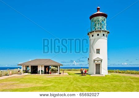 Kilauea lighthouse in Kauai island