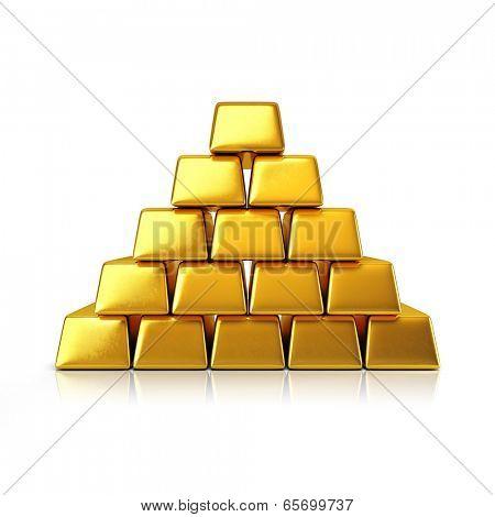 Golden bars pyramid