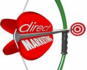 pic of bow arrow  - Direct Marketing words arrow bow aiming new prospects customers  - JPG