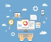 picture of cod  - software app developer or statistics analyst technology concept - JPG