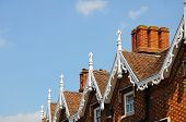 stock photo of avon  - Ornate gable detail on townhouses Stratford - JPG
