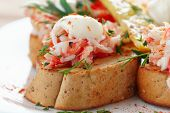 picture of crab  - Crab meat with toast - JPG