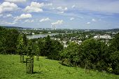 picture of bonnes  - A landscape image from high on a hill with the German city Bonn faraway in the distance - JPG