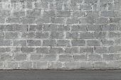 picture of aeration  - Gray wall made of aerated concrete blocks - JPG