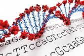 stock photo of double helix  - DNA background - JPG