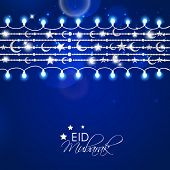 pic of eid card  - Greeting card design for Muslim community festival Eid Mubarak celebrations - JPG