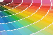 stock photo of interior decorator  - The color palette a background close up - JPG