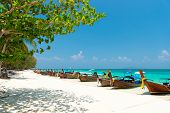 stock photo of phi phi  - Bamboo island view - JPG