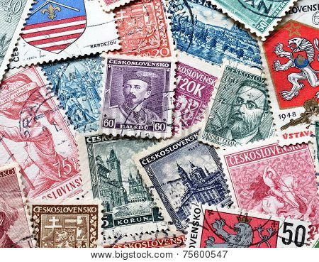 Czechoslovakia on stamps