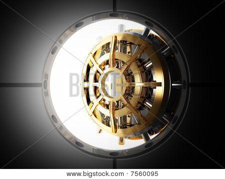Banco puerta Vault 3D