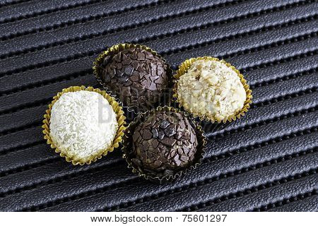 Brazilian sweeties on a black table