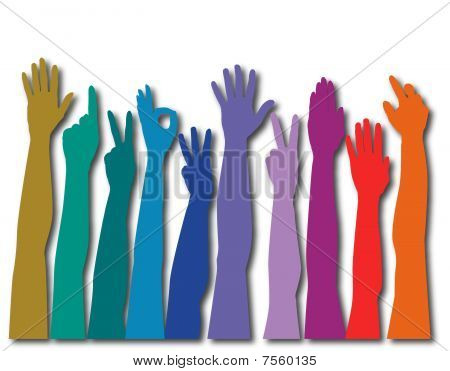 Hands of all races