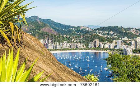 Wiew of Flamengo beach in Rio de Janeiro.Brazil