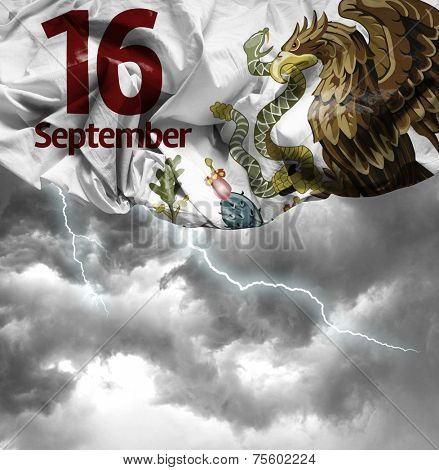 September, 16 Independence of Mexico on a bad day