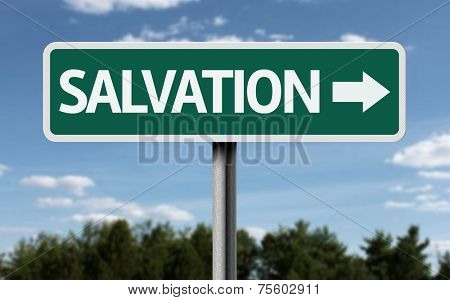 Salvation creative sign
