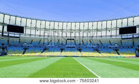 RIO DE JANEIRO, BRAZIL: CIRCA NOVEMBER 2013: The famous Maracana Stadium in Rio de Janeiro, Brazil.