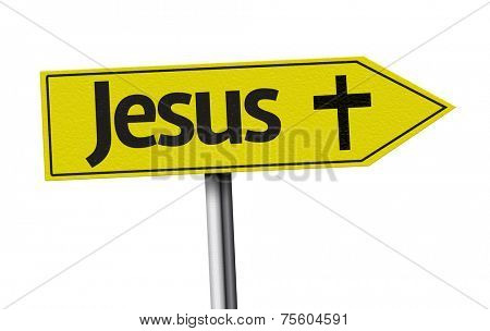 Jesus creative sign on white background