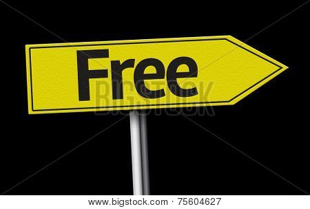 Free creative sign on black background
