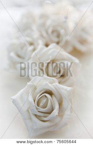 White Rose, Detail Of A Wedding Cake - Macro Shot