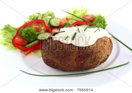 Baked Potato And Cream Cheese