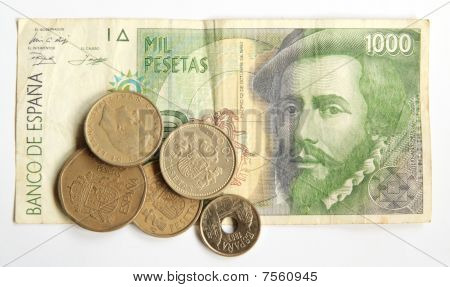 Old Spanish Pesetas