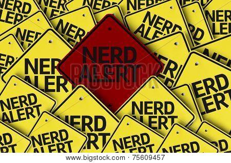 Nerd Alert written on multiple road sign