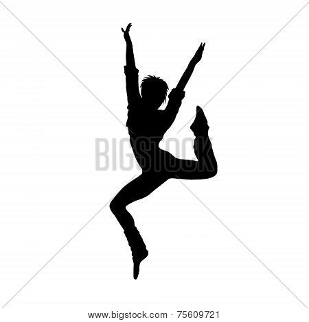 dancing girl black silhouette