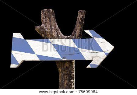 Bavaria wooden sign isolated on black background