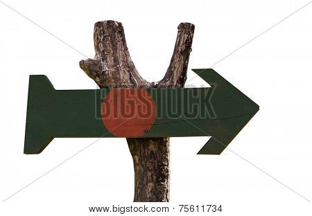 Bangladesh wooden sign isolated on white background