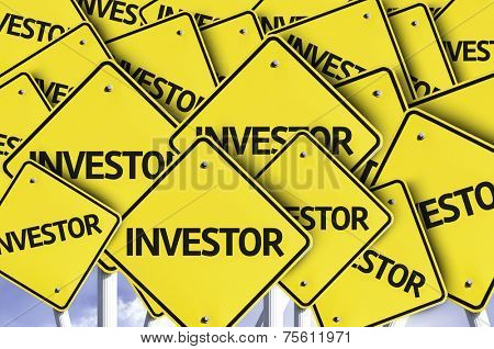 Investor written on multiple road sign