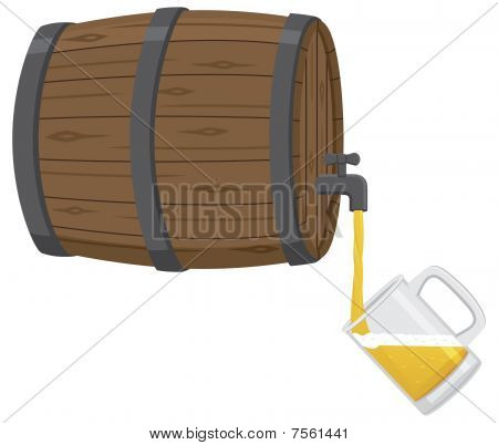 Filling a Beer Mug From a Keg