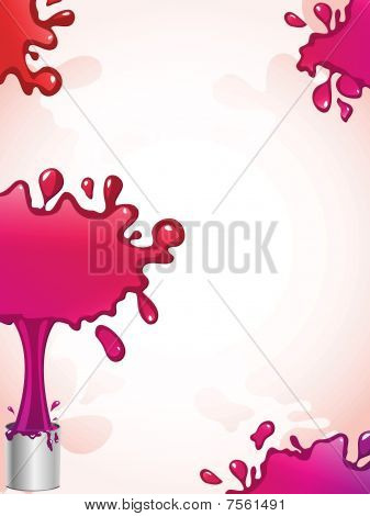 Pink and red Ink Splash Background
