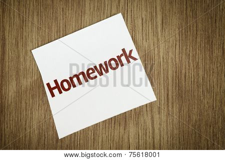 Homework on Paper Note on texture background