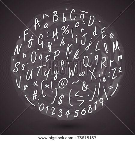 Grunge Hand Made Vector Font