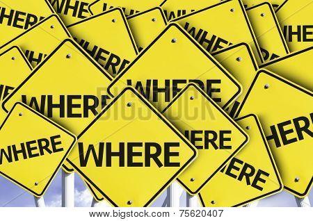 Where written on multiple road sign