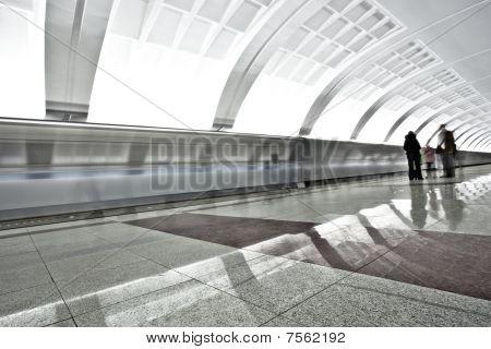 People On Underground Platform