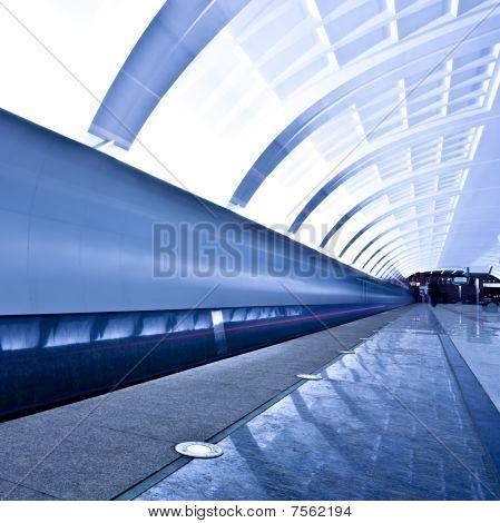 Empty Underground Platform